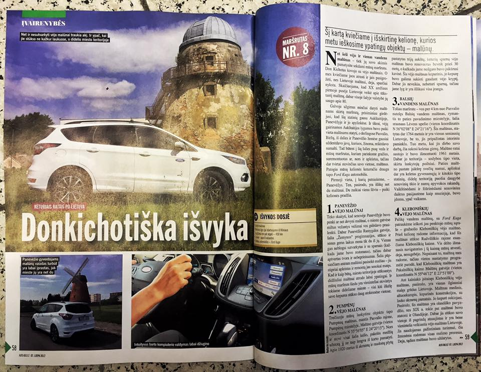 keliones automobiliu po Lietuva